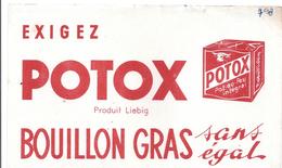Buvard Ancien EXIGEZ POTOX -produit Liebig -bouillon Gras Sans égal - Soups & Sauces