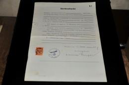 269- Sterbeurkunde Remscheid - Documents Historiques