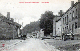 Cpa (08)  Chatel-chehery  -  Rue  Principale - Other Municipalities