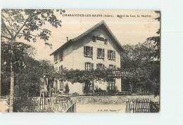 CHARAVINES Les BAINS - Hôtel Du LAC MARTIN - 2 Scans - Charavines