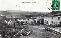 Cpa(08) Chatel-chehery  Rue  De  La  Coupe-a-jean - Other Municipalities