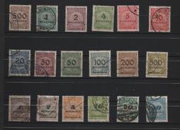 ALLEMAGNE 1923. 18 Timbres Oblitérés.(1) - Oblitérés