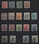 ALLEMAGNE 1923. 18 Timbres Oblitérés.(2) - Oblitérés