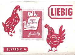 Buvard Ancien -Liebig -crème De Volaille Pour 4 Personnes -Buvard N°4 - Soups & Sauces