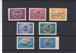 Russie - Yvert PA 105 / 11 ** - MNH -  NON Dentelés - Avions - Globe - Valeur 25 Euros