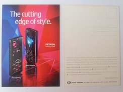 Old Advertisement Postcard - 2007 NOKIA The Cutting Edge Of Style (P30) - Singapur