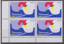 Liechtenstein 2000 25Y KSZE/OSCE 1v  Bl Of 4 (corner)  ** Mnh (33942A) - Europäischer Gedanke