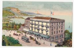 CPA MONACO MONTE CARLO Hôtel D'Albion Et Du Littoral – Animation (2 Scans) - Monte-Carlo