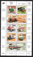 Venezuela 1993,10V In Sheetlet,,raiway,trains,treinen,züge,trenes,treni,MNH/Postfris(L2878) - Treinen