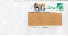 2016--PAP Lettre Verte 20g Avec Complément Tp Quimperlé-cachet Rond Verneuil L'étang-77 - Marcophilie (Lettres)