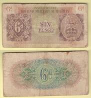War Currency British Military Authority 6 Pence 1943 Occupazioni Militari Britanniche - Militärausgaben