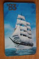 Sailing Ship - BLACK SEA COMPANY  - Small Calendar -  1983 -  STEREO - 3D - Calendriers