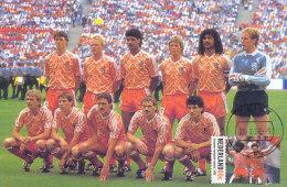 D27712 CARTE MAXIMUM CARD FD 1999 NETHERLANDS - DUTCH SOCCER TEAM - VAN BASTEN RIJKAARD ETC.CP ORIGINAL - Famous Clubs