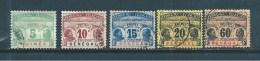 Colonie Taxe   Du Sénégal  De 1906  N°4 A 7 + 10  Oblitérés (cote 50,50 €) - Timbres-taxe