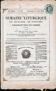 Y & T N°50, SUR JOURNAL: LA SEMAINE LITURGIQUE ( COMPLET ), OBL POITIERS DU 18 AOUT 1875 - 1871-1875 Ceres