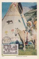 D27724 CARTE MAXIMUM CARD 1951 CANADA - TIPI INDIAN CULTURE WIGWAM CP ORIGINAL - Architecture