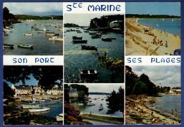 29 COMBRIT STE-MARINE Son Port Et Ses Plages ; Canots, Chalutiers 6 Vues - Animée - Combrit Ste-Marine