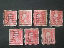 STATI UNITI 1917  WASHINGTON 2 CENT ROSE ROSSO TYPE I  PERF 11 - United States