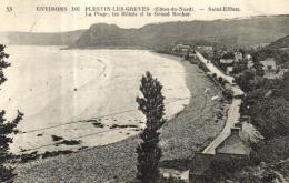 A 2924 - Saint - Efflam (22) Environs De Plestin -les -Grèves    La Plage  Les Hotels Et Le Grand Rocher - France