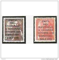 ES1088STV-LFT**1088TEAE.Spain Espagne.VISITA DE FRANCO A CANARIAS.1951 (Ed 1088/89*) Con Charnela. - Nuevos & Fijasellos