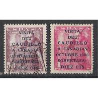 ES1088STV-LFTU1088TCSC.Spain Espagne.VISITA DE FRANCO A CANARIAS.1951 (Ed 1088/89º) MAGNIFICO - Celebridades