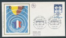 1985 Env 1er Jour Francophonie - Paris - 1980-1989
