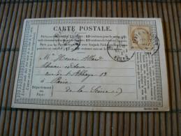 D131/ CERES N° 55 SUR CARTE POSTALE - 1871-1875 Ceres