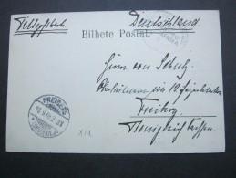 1905 , Hamburg - Westafrika , Seepoststempel Auf Karte - Colony: German South West Africa