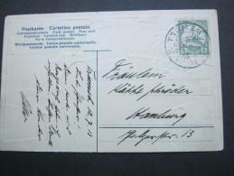 1913 , TSUMEB , Klarer Stempel Auf Ansichtskarte , Etwas Beschädigt - Colony: German South West Africa