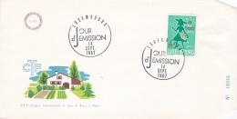 Luxembourg  FDC  1967  XVIe Congres International Du Coin De Terre Et Foyer   (T2-1) - FDC