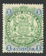 Rhodesia, British South Africa Company, 1 S, 1896, Sc # 33, Used - Great Britain (former Colonies & Protectorates)