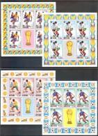 ANTIGUA  World Cup-74 Set 4 Sheetlets   MNH