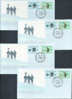 Australian Antarctic Territory 1984 75th Anniversary Of Magnetic Pole Expedition 4 Base FDC Set Official Unaddressed - Territoire Antarctique Australien (AAT)