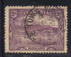 T1911 - TASMANIA 2 Pence Wmk V On Crown Sideways Used . P. 12 1/2 - 1853-1912 Tasmania