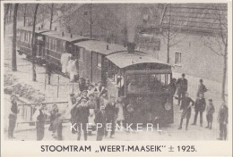 BUURTSTOOMTRAM TRAM VICINAL VAPEUR WEERT MAASEYCK MAASEIK ROND 1925 / REPRODUCTIE / MOOIE ANIMATIE - Maaseik