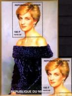 Porträt Diana Im Samtkleid 1997 Niger A1431+Block H 110 ** 14€ Lady Di Hb Blocs Ms Flower Princess Of Wales Sheets Bf UK
