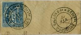!!! N°101 SUR FRAGMENT OBLIT ESCADRE DE LA MEDIT; MARSEILLE. TB - 1877-1920: Semi Modern Period