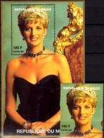 Porträt Diana Mit Diadem 1997 Niger A1432+ Block I 110 ** 14€ Lady Di Hb Blocs M/s Flower Princess Of Wales Sheets Bf UK