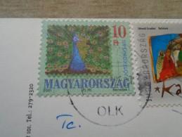 D144498 HUNGARY- Postcard  - Peacock Stamp -  2001