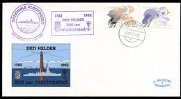 NEDERLAND - 1982 Vlootdagen  Den Helder 1782 - 1982 200 Jaar Marinestad.  Speciale Brief En Stempel Veldpost. - Period 1980-... (Beatrix)