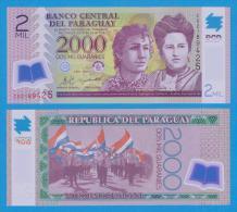 PARAGUAY  2.000 Guaranies 2.008 KM#228a SC/UNC/PLANCHA  T-DL-10.601 - Paraguay