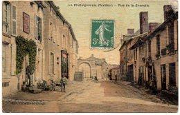 La Chataigneraie : Rue De La Grenette (carte Toilée Et Colorisée) - Léger Pli Coin Haut-droit - La Chataigneraie