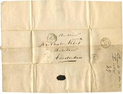 NEDERLAND - 17 Mei 1872 Brief Van Groenlo Naar Amsterdam. Postzegel Afgescheurd. Treinstempel. Zie Omschrijving. (d-960) - Period 1852-1890 (Willem III)