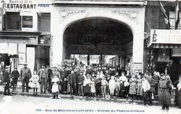 Cpa  Paris 20e Rue De Menilmontant --  Entree Du Phenix-cinema - District 20