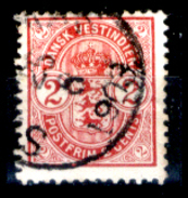 Antille-Danesi-F055 - 1900-1903: Yvert & Tellier N. 17 - Privo Di Difetti Occulti - - Dänemark (Antillen)