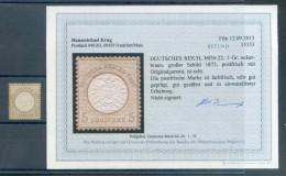 DR-Brustschild 22 LUXUS**POSTFRISCH BEFUND 180EUR (70814 - Unused Stamps