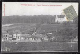 CPA 27 - Touffreville, Vue Sur L'église Et Les Maisons Environnantes - France