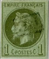!!! N°7 OBLITERE PD ENCADRE (REUNION). SIGNE BRUN - Napoleon III