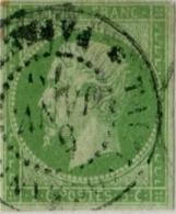 !!! N°8 OBLITERE CACHET A DATE TAÏTI PAPEETE DE JANVIER 1876. SIGNE BRUN. RARE UTILISATION DANS CETTE COLONIE