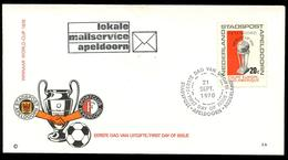 NEDERLAND -STADSPOST APELDOORN  FDC 21 September 1970. - Nederland